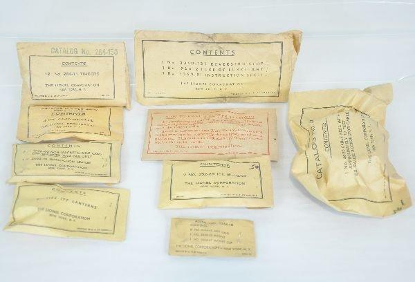 9 Lionel Packet Envelopes