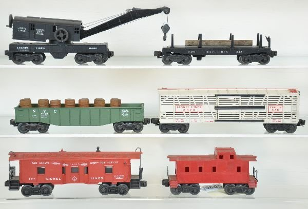 6 Lionel Freight Cars, 1 is Rare