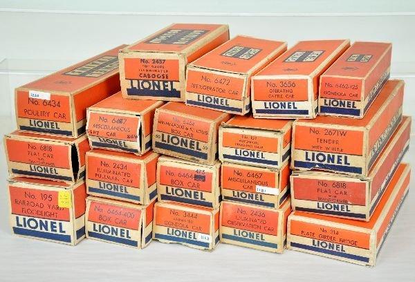 15 Original Lionel Empty Boxes