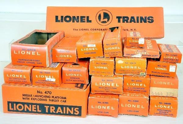 20 Original Late Empty Lionel Boxes