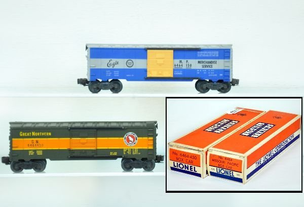 2 Nice Boxed Lionel 6464 Boxcars