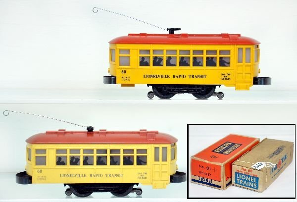 2 Boxed Lionel 60 Trolleys