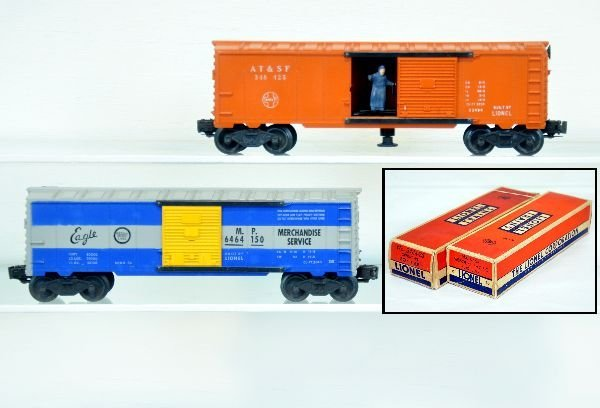 2 Nice Boxed Lionel Boxcars