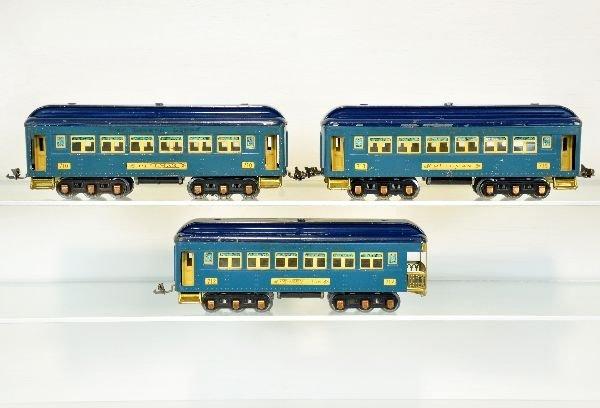 3 Lionel 700 Series Passenger Cars