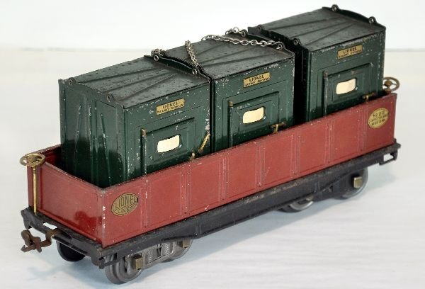 Lionel 212 gondola with 205 Containers