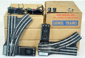6 Pairs Lionel 022 Remote Switches