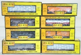 8 MTH Rail King Freight Cars