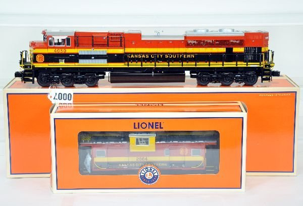 Lionel Kansas City Southern SD70ACE and Caboose