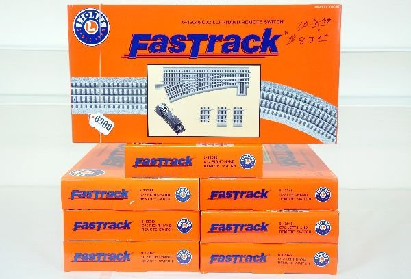 8 Pc Lionel FastTrack Switches