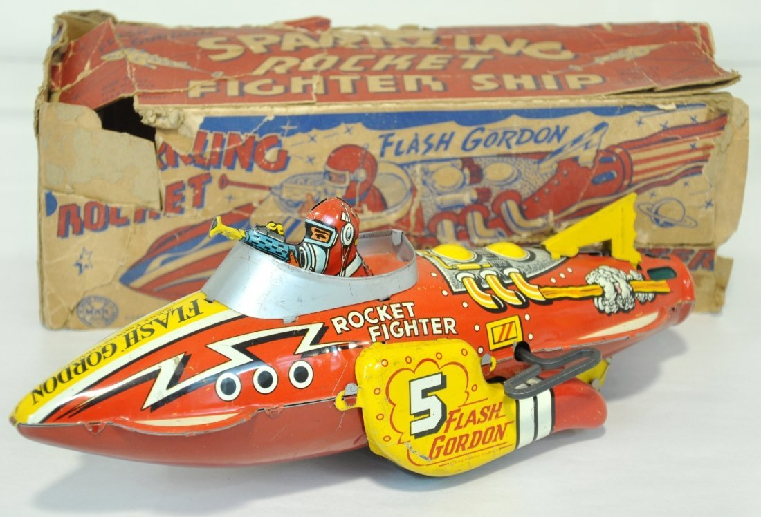Boxed Marx Flash Gordon Rocket Ship