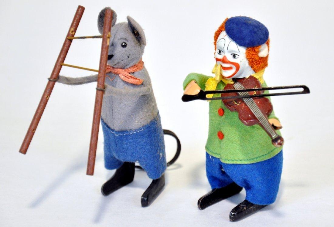 Schuco Clown Violin & Mouse Acrobat
