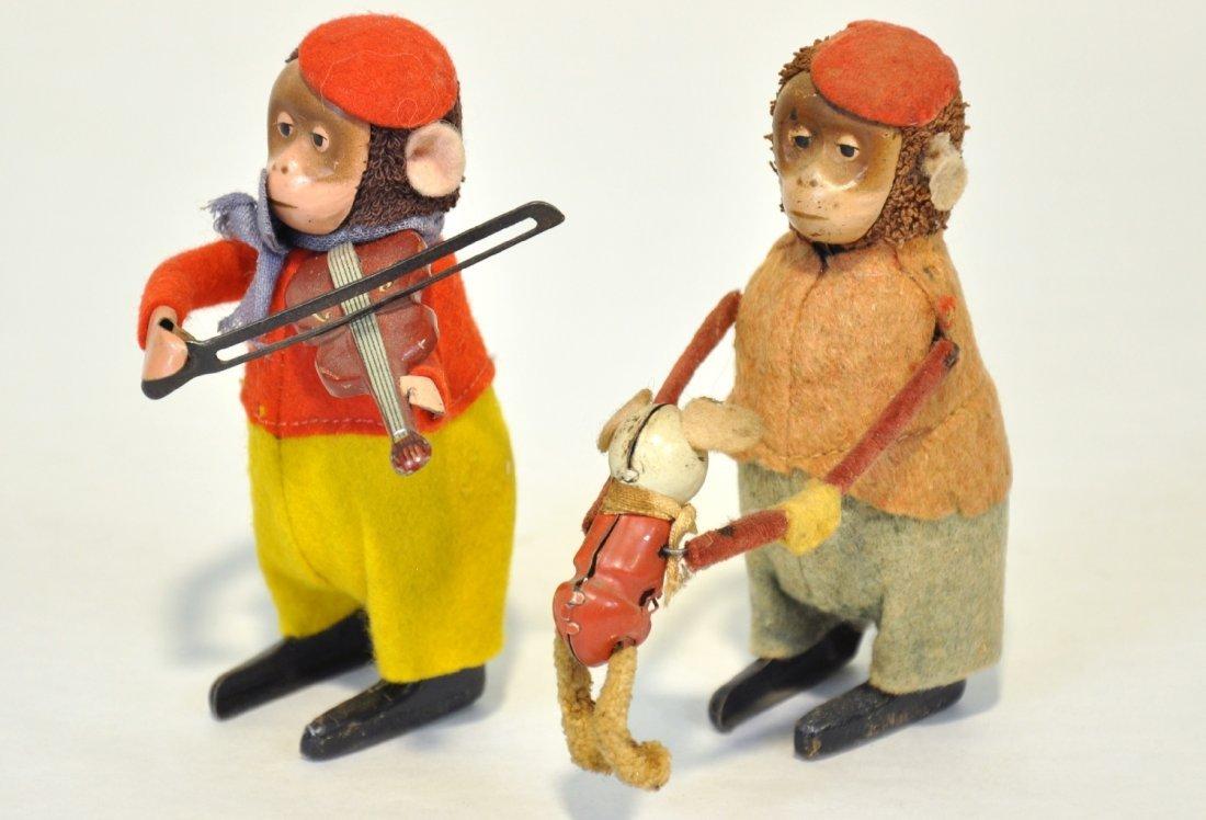 Schuco Monkey Violin & Mama with Baby