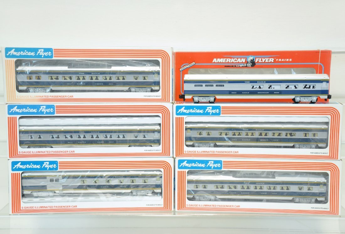 6 Pc Lionel American Flyer MP Passenger Cars