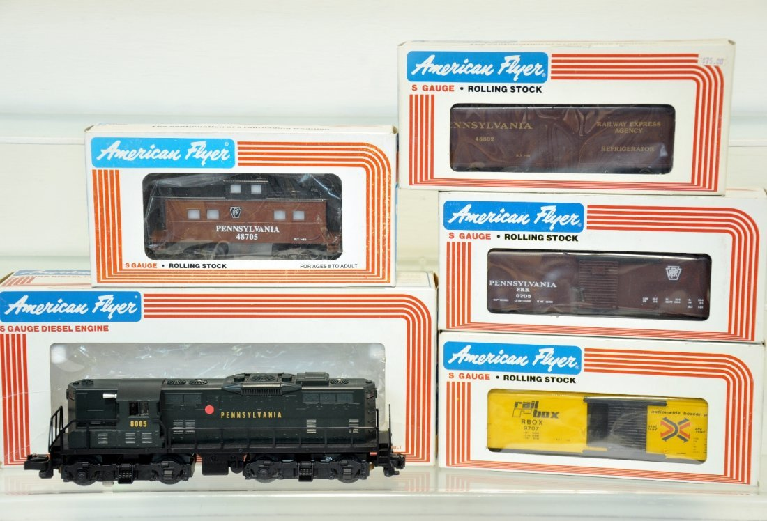 5 Pc Lionel American Flyer PRR Freight Set