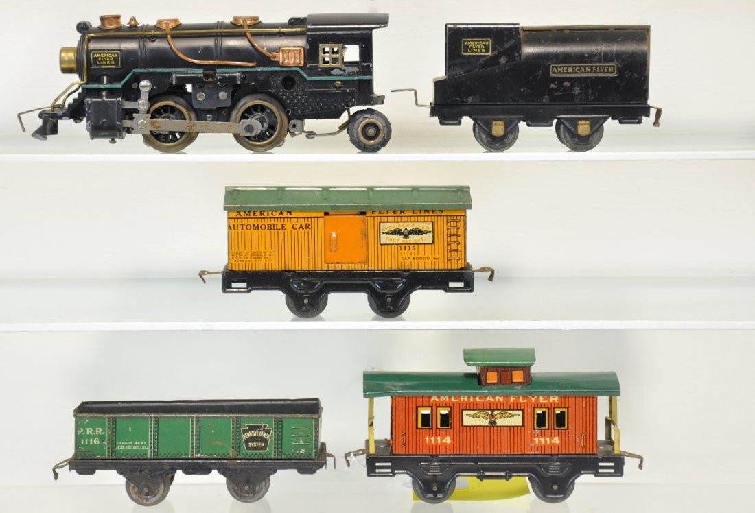5Pc American Flyer Steam Freight Set