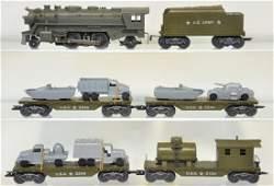 6Pc Marx Military Train Set