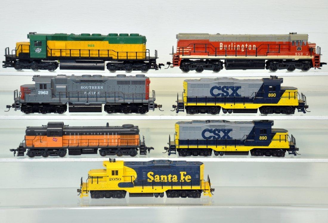 7 Clean Assorted HO Diesels