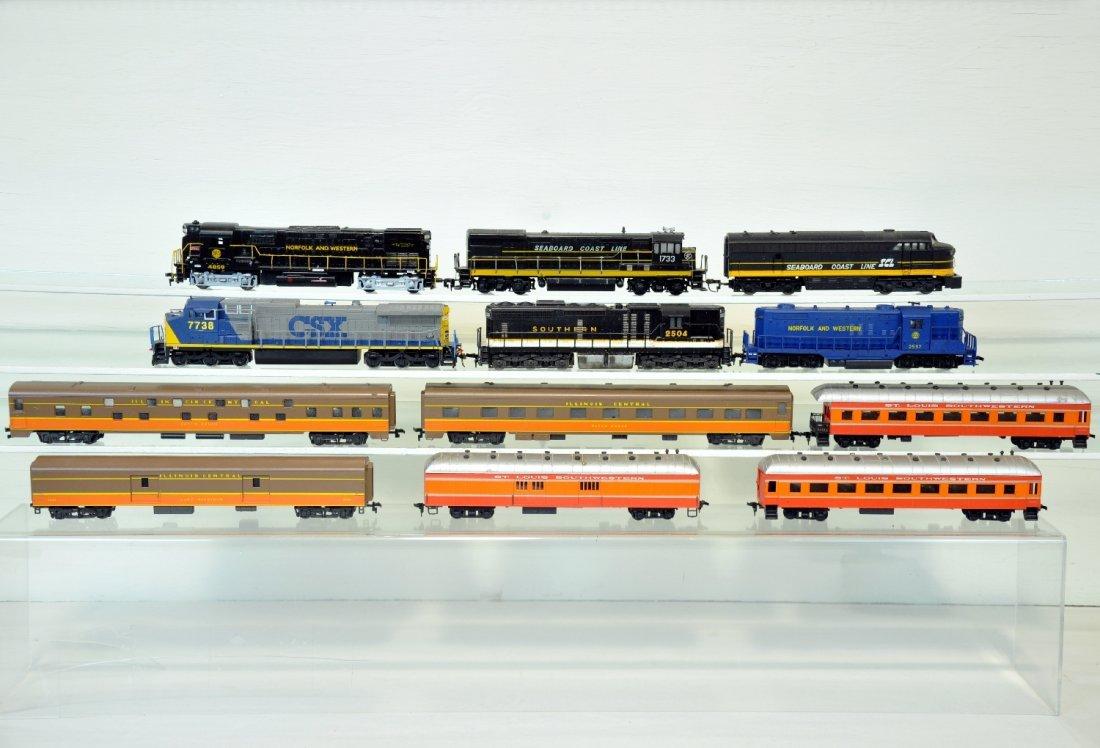 12Pc Assorted HO Trains Lot