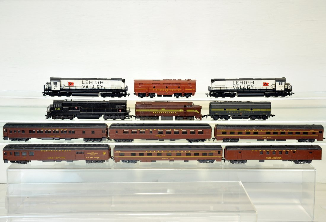 12Pc PRR & LV HO Trains Lot