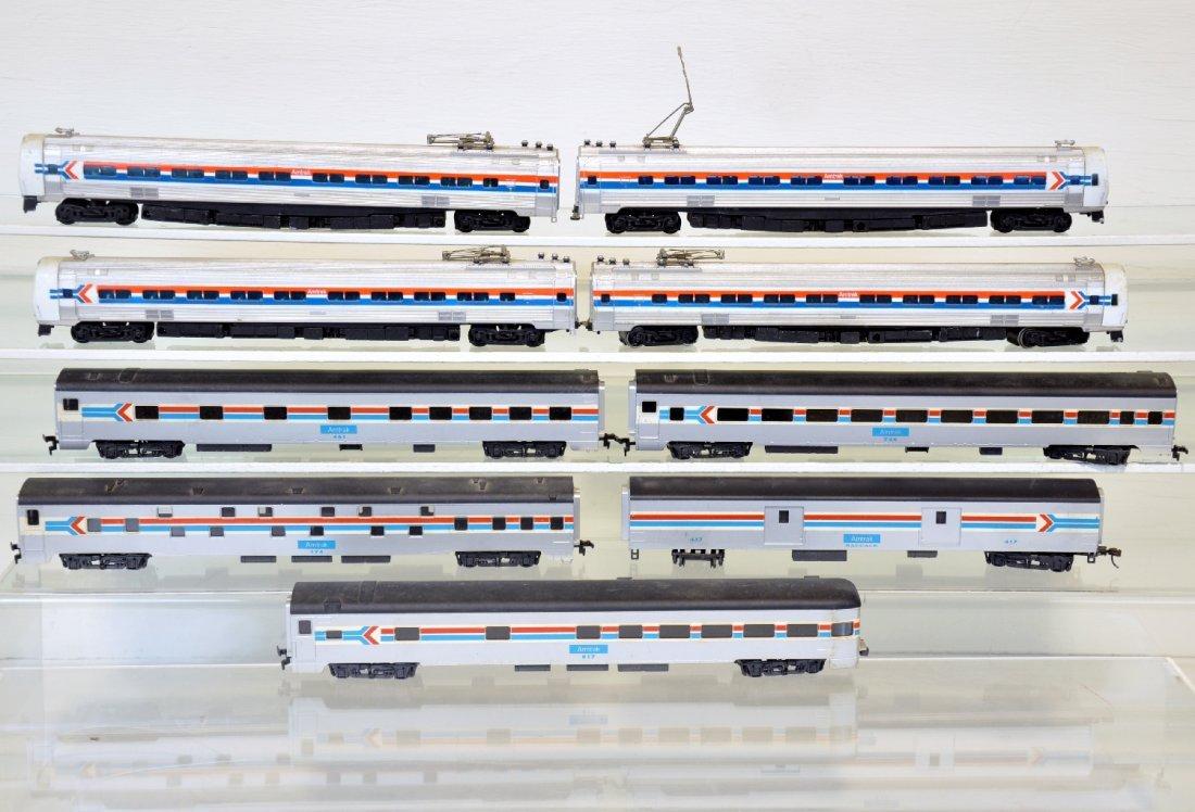 9Pc Amtrak HO Passenger Trains Lot