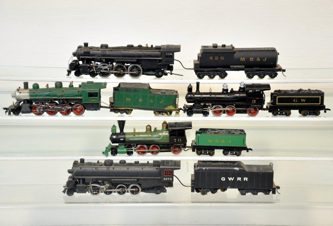 5 Bowser Diecast HO Steam Locomotives
