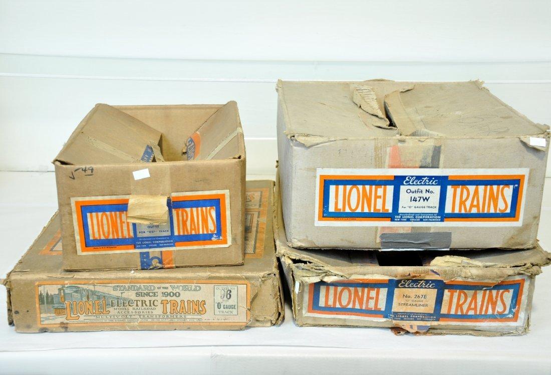 4 Empty Lionel Pre War Set Boxes