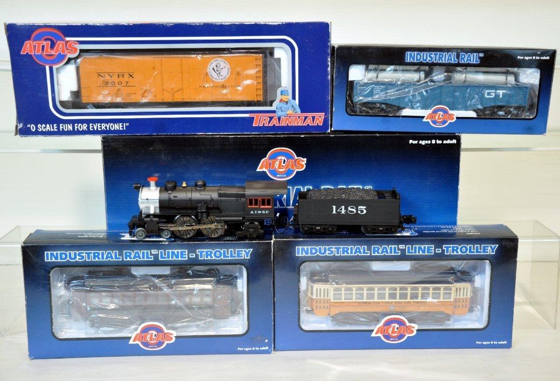 5Pc Atlas & Industrial Train Lot