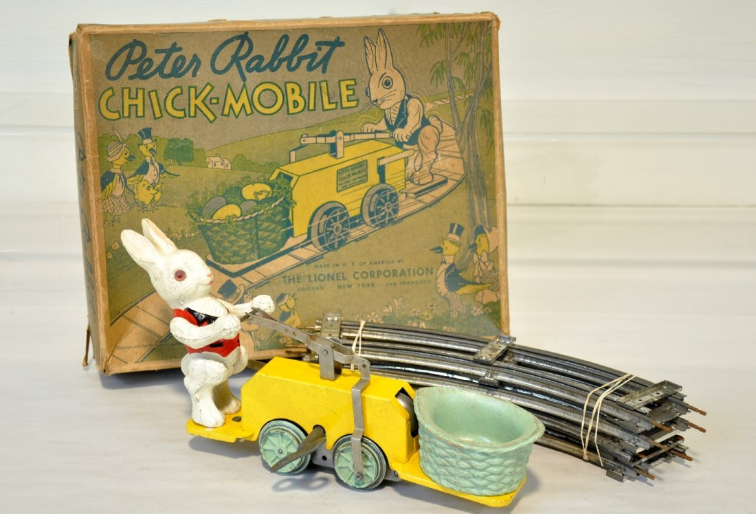 Nice Boxed Lionel 1103 Peter Rabbit Hand Car