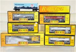 7 MTH RailKing Freight Cars