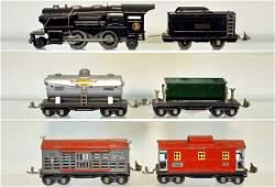 6Pc Lionel 259E Steam Freight Set