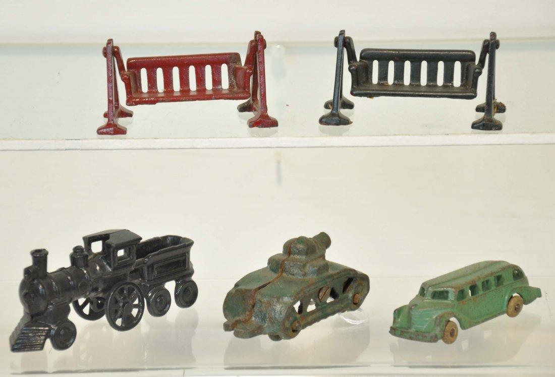 5 Cast Iron Toys