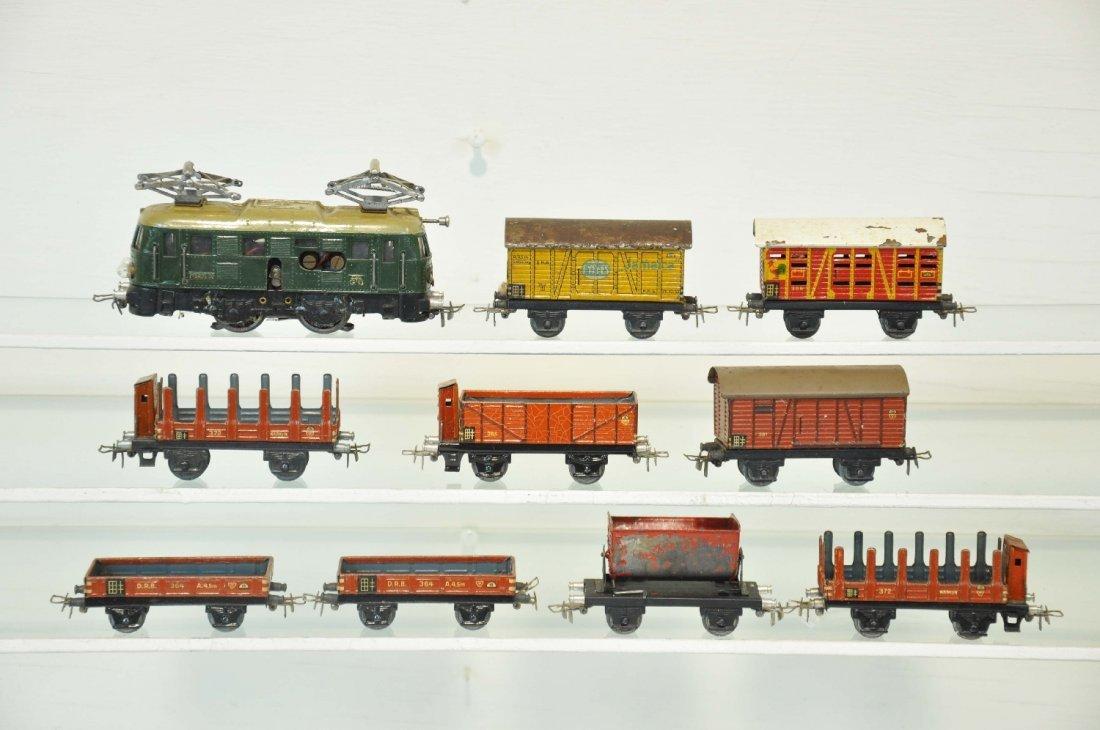 10Pc Early Marklin HO Freight Set