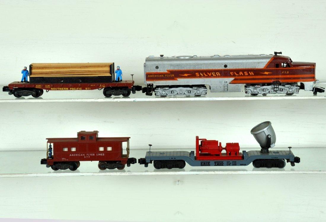 4Pc American Flyer 479 Diesel Freight Set
