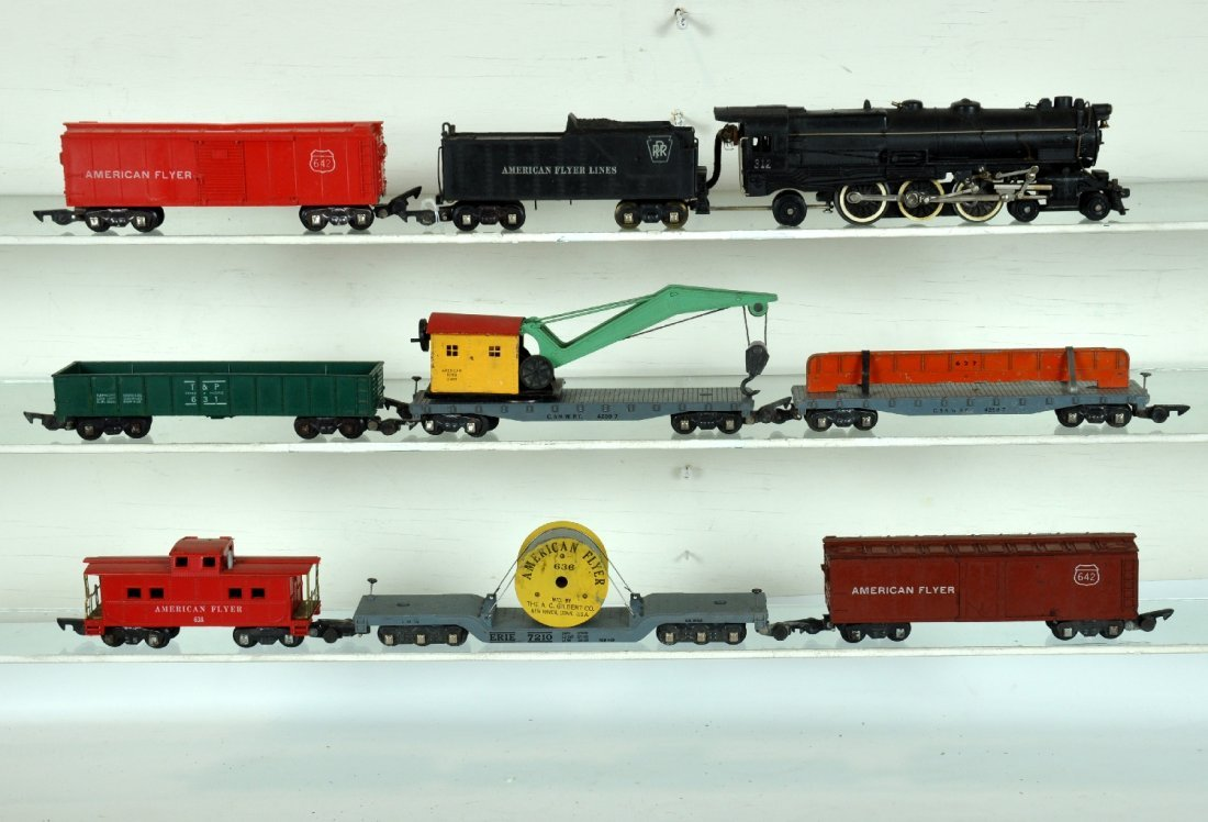 8Pc American Flyer 312 Freight Set