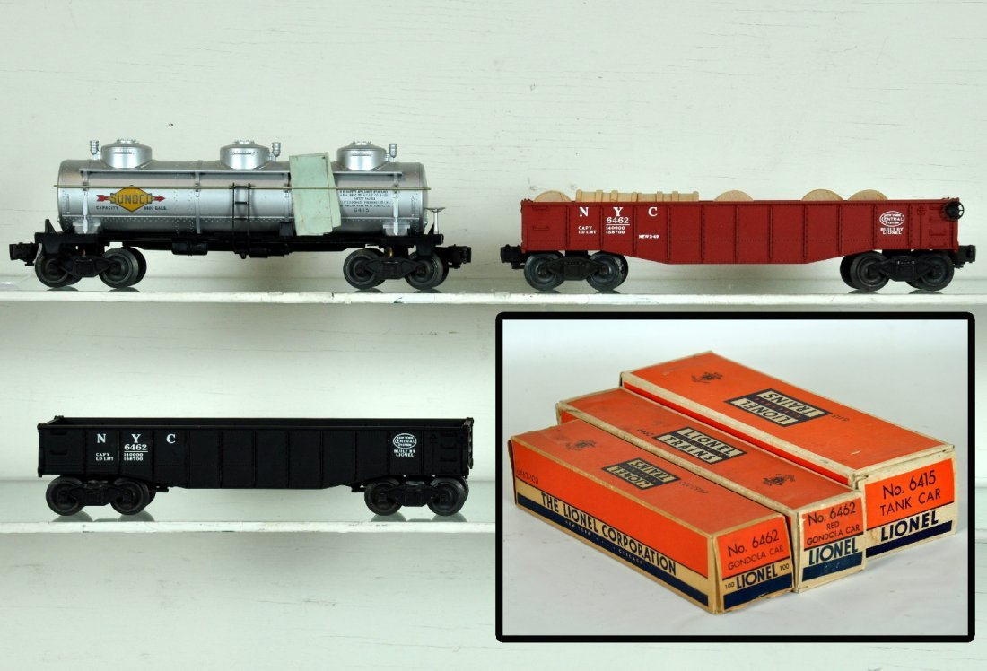 3 Mint Boxed Lionel Freight Cars