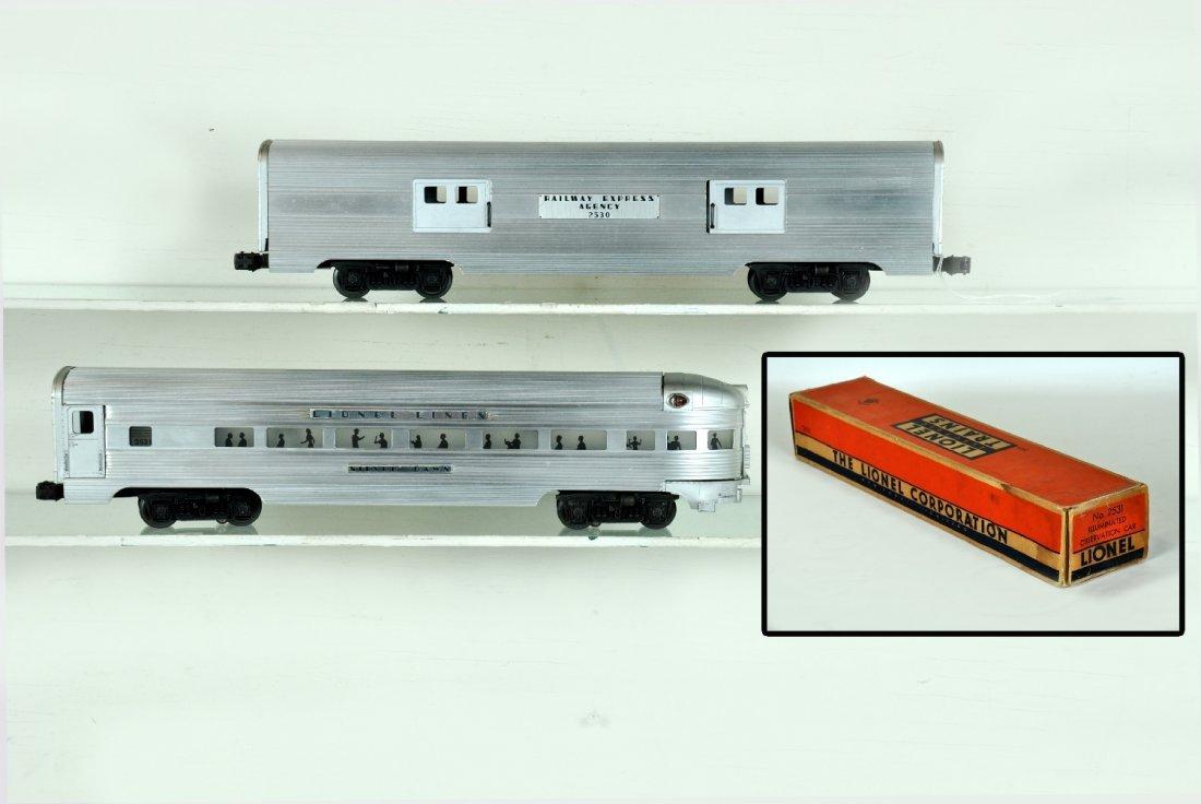 Clean Lionel 2530 & 2531 Passenger Cars