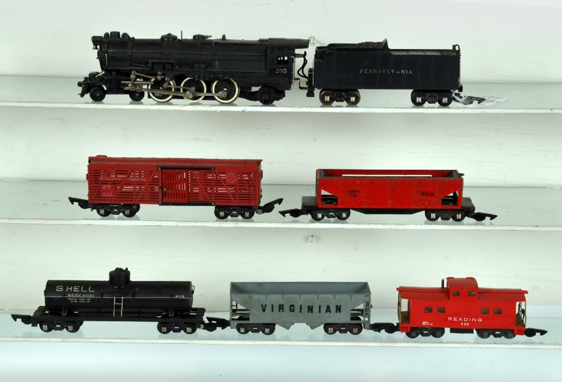 6Pc American Flyer 310 Steam Freight Set