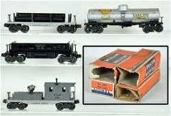 4 Boxed Early Lionel Freight Cars