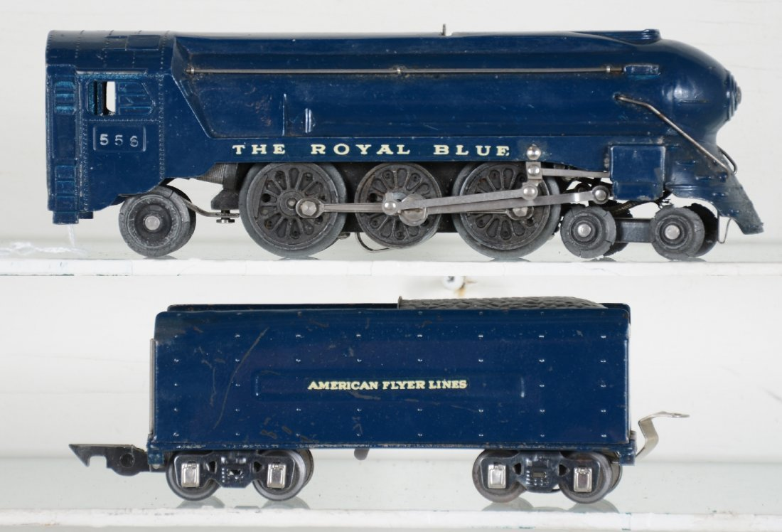 American Flyer Royal Blue Loco 350 Decals