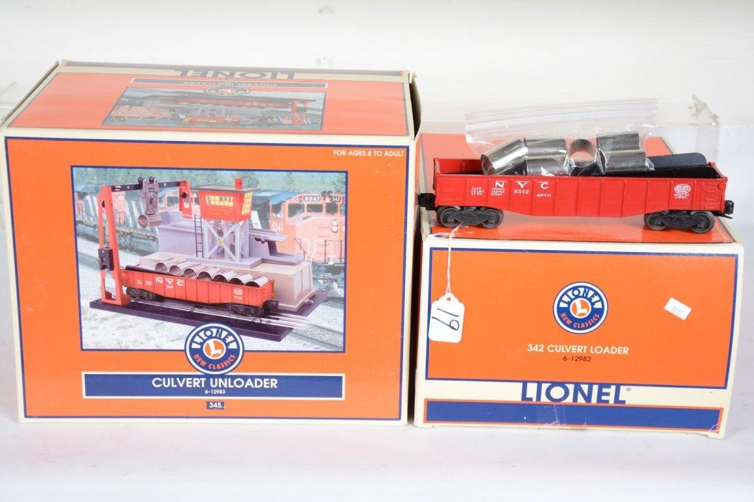 Lionel 12982 & 3 Culvert Loader & Unloader Set