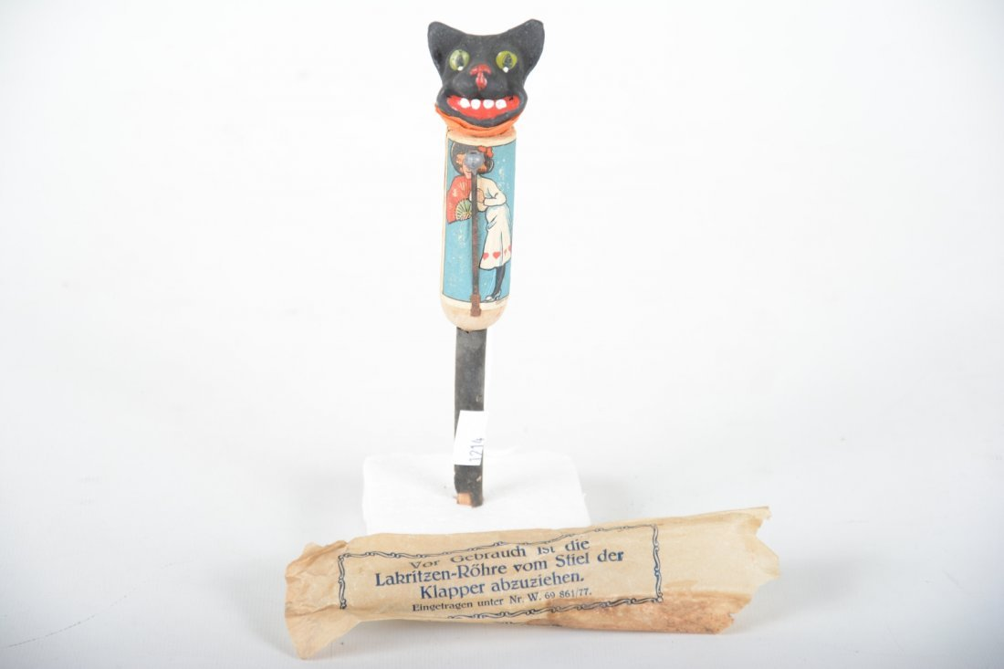 Early Black Cat Noise Maker Puppet