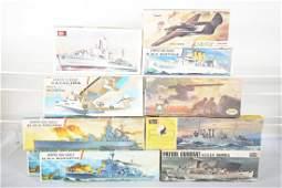 Vintage Military Ship Model Kits