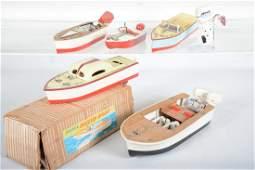 Vintage Toy Boat & Motor Group