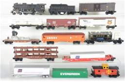Large Group Modern Trains