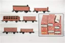 6 Boxed Early Marklin HO Freight Cars