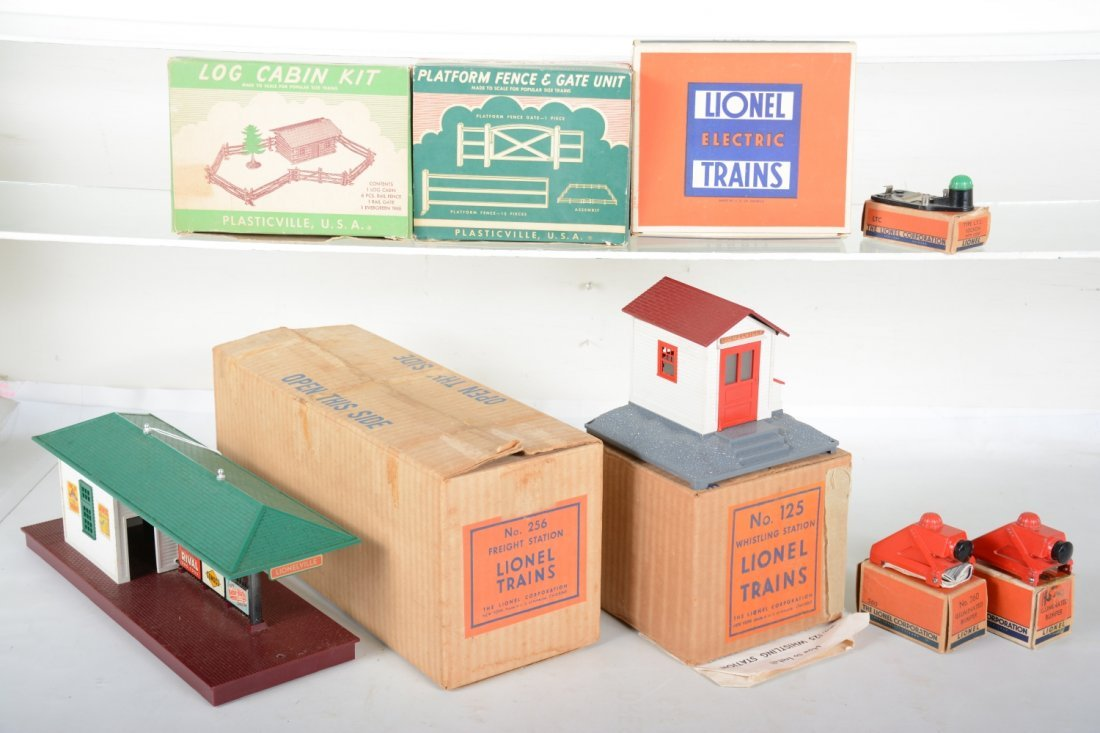 Boxed Train Accessory Lot