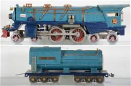 Early Lionel 400E Blue Comet Locomotive