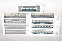 Large Marklin HO DB Express Train Set