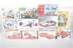 Assorted Vintage Car Model Kits