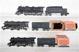 3 Lionel Steam Locomotives